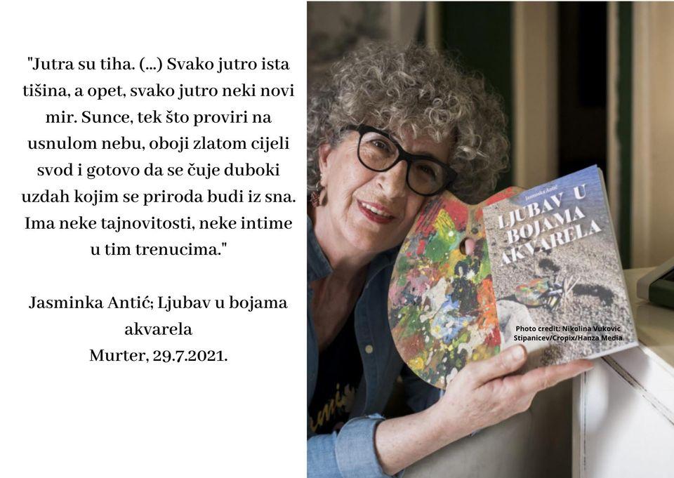 """Predstavljanje knjige """"Ljubav u bojama akvarela"""" – gošća autorica Jasminka Antić"""